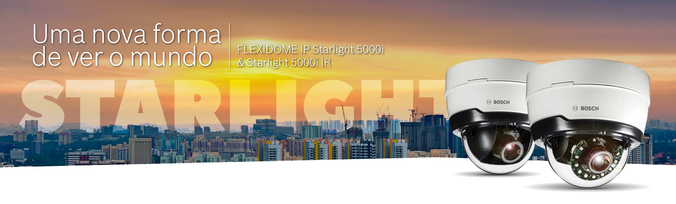 Novas câmaras Bosch Flexidome IP 5000i Starlight